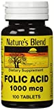 Nature's Blend Folic Acid 1000 mcg 100 Tablets Review