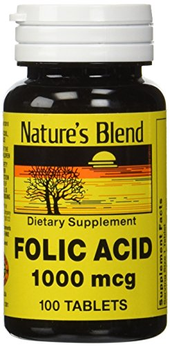 Nature's Blend Folic Acid 1000 mcg 100 ()