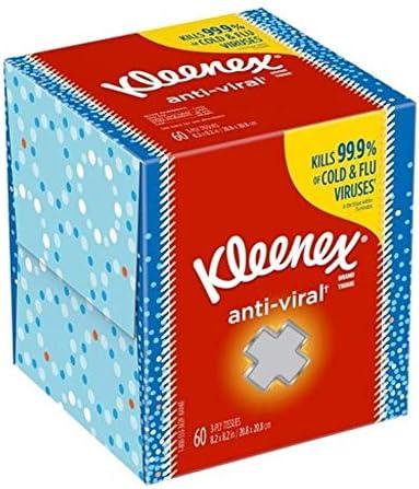 Kimberly-Clark Professional Kleenex Anti-Viral Facial Tissue Cube