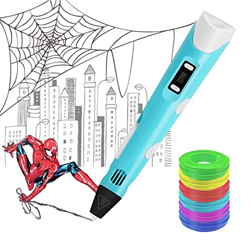 3D Printing Pen, BESTHING Low Temperature 3D Printing Pen with LED Display for Kids and Adults, Doodler Model Making and Art Crafts Tool, Compatible with PLA and ABS Filament Refills by BESTHING