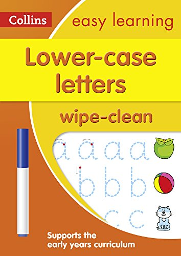Lower Case Letters: Wipe-Clean Activity Book (Collins Easy Learning ()