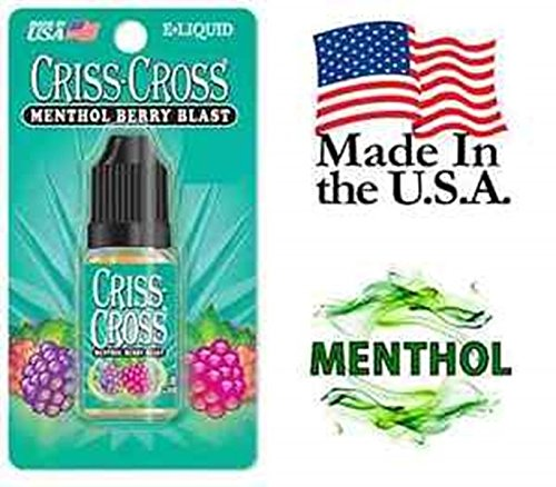 Criss Cross Vape Vapor USA 10ML Menthol Berry Blast 0 mg Nicotine free