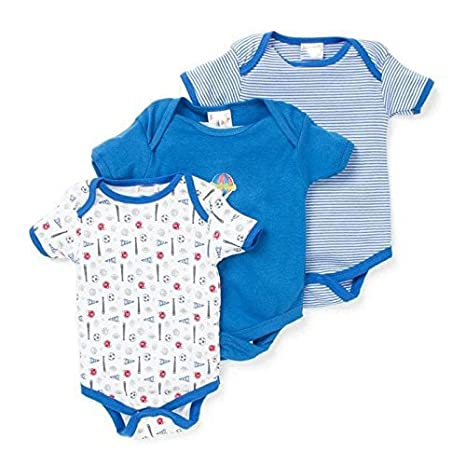 11a1e7321 EIO® Mini Berry Short Sleeves Cotton Sleep Suit Romper Set of 3 for Boys ( Blue, 9-12 Months): Amazon.in: Baby