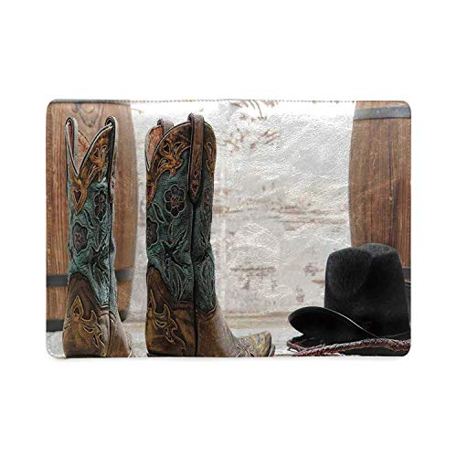 Western Decor Utility Notebooks,Cutouts With Black Cowboy Hat Infront of a Rustic Barrel and Background Racing Event for Work,5.82