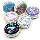 Birthday Popper (12 Pieces) Unicorn Metal Tin Case Pouch for Adapter/Earphone/Coins/Jewellery as Birthday Return Gifts for Kids and Adults of All Age Group