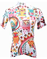 QinYing Cartoon Animals Colorful Short Sleeve Outdoor Bicycle Cycling Jersey