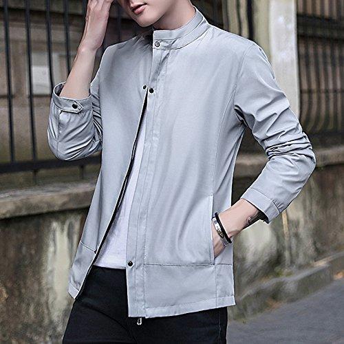 Grigio In Sau Giacca Della Impostato ir Vino xxl La Uomini Di Camicia Versione Casual Slim Un Coreana qnWS01wZ