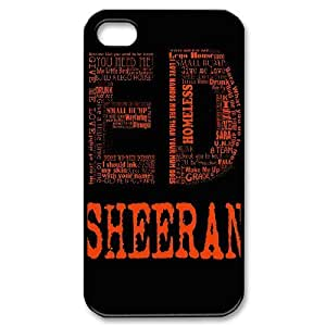 James-Bagg Phone case Singer Ed Sheeran Protective Case For Iphone 4 4S case cover Style-7