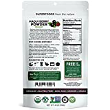 Biofinest Maqui Berry Juice Powder - 100% Pure Freeze-Dried Antioxidants Superfood - USDA Organic Vegan Raw Non-GMO - Boost Digestion Weight Loss - For Smoothie Beverage Blend (4 oz Resealable Bag)