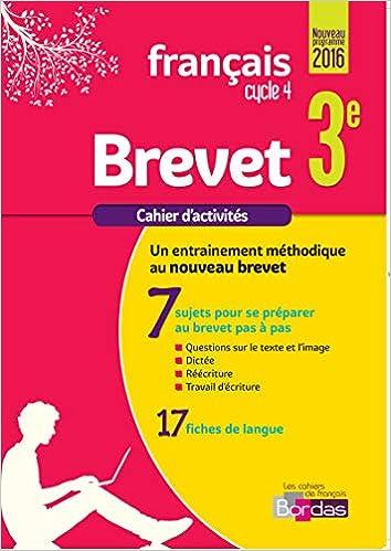 Français brevet 3e : Cahier dexercices (French) Paperback – January 14, 2017