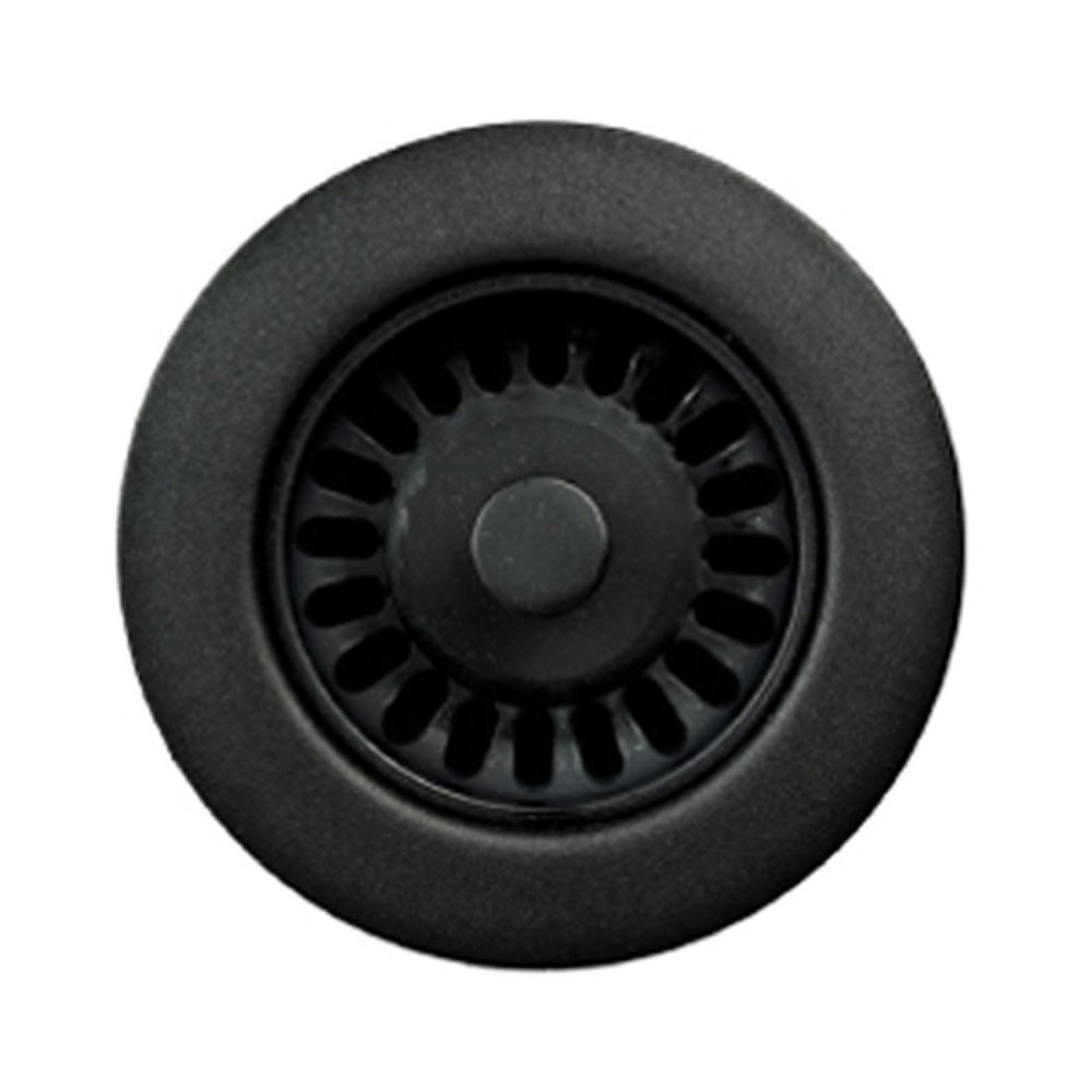 Houzer 190-9265 Sink Strainer for 3.5-Inch Drain Openings, Matte Black (Renewed) by HOUZER