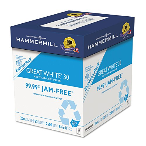 hammermill-67780-great-white-recycled-copy-paper-92-brightness-20lb-8-1-2-x-11-2500-shts-ctn
