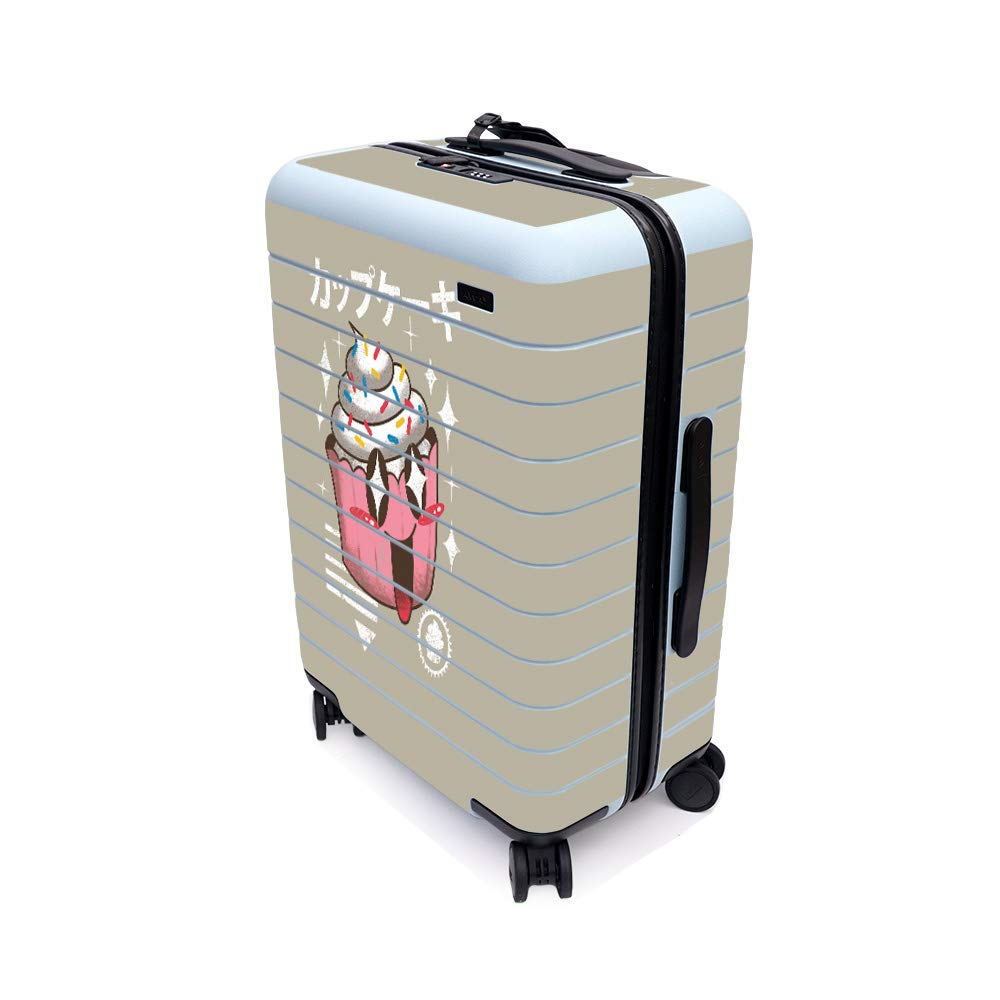 MightySkins Skin for Away The Bigger Carry-On Suitcase - Cupcake Kawaii | Protective, Durable, and Unique Vinyl Decal wrap Cover | Easy to Apply, Remove, and Change Styles | Made in The USA by MightySkins