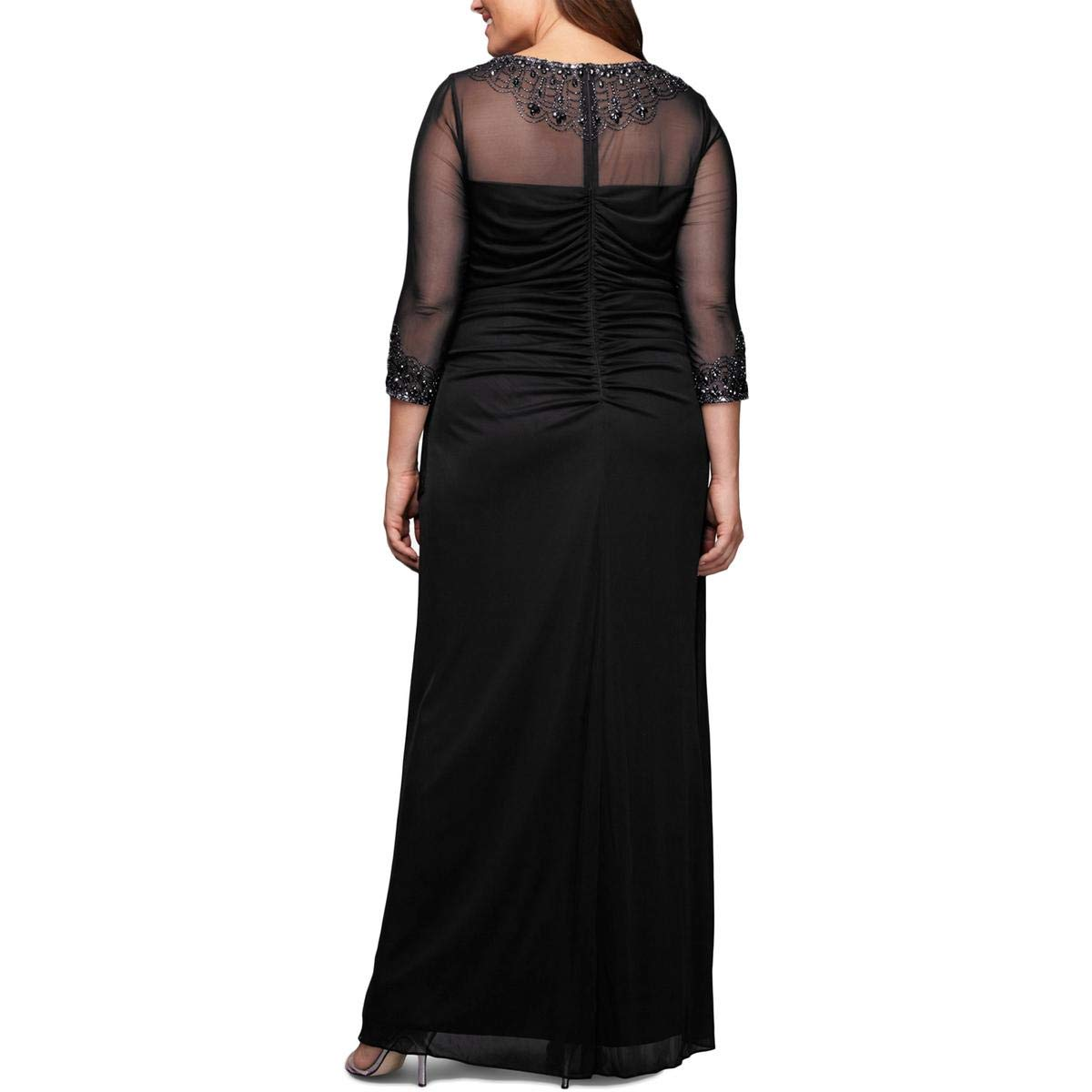 Alex Evenings Womens Plus-Size Midi Cap Sleeve Dress with Sequin Special Occasion Dress