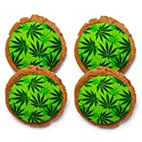 Chomp a'Lomp Cookies, Cannabis, Sweet Green, Chomp a'Lomp Clear Top Box, 4 Decorated, 8 Plain