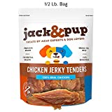 Cheap Jack&Pup Premium Natural Real Chicken Jerky Dog Treat Chews (8 Oz. Pack) – Delicious Fresh Extra-Lean Tender Chicken Jerky for Dogs –No Fillers or Additives; Only Real Natural Chicken Breast Tenders