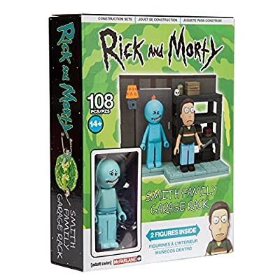 McFarlane Toys Rick & Morty Smith Garage Rack Small Construction Interlocking Building Set: Toys & Games