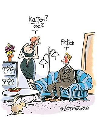 Postkarte A6 Cartoon Von Modern Times Kaffee Tee Ficken