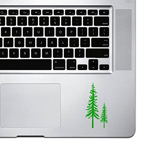 StickAny Palm Series Redwood Trees Sticker for Macbook Pro, Chromebook, and Laptops (Green)