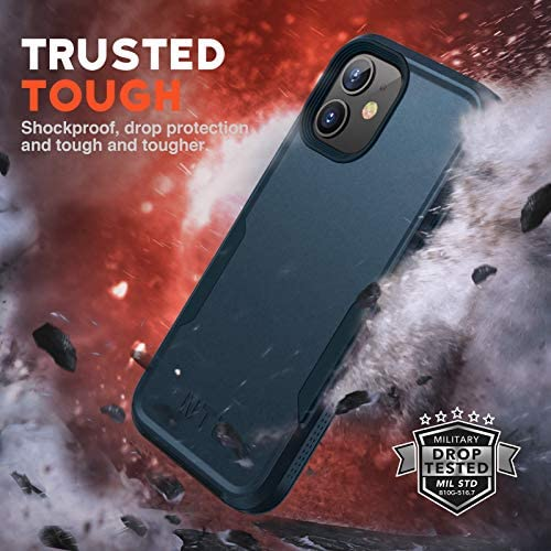 NTG [1st Generation] Designed for iPhone 12 Case & iPhone 12 Pro Case, Heavy-Duty Tough Rugged Lightweight Slim Shockproof Protective Case for iPhone 12 6.1 Inch, Blue