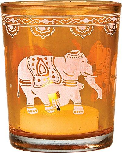 Bazaar Painted Candle Holder Elephant
