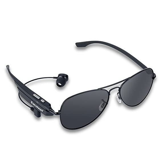d9cd82469c Image Unavailable. Image not available for. Color  Excelvan Wireless  Bluetooth Polarized Smart Sunglasses ...