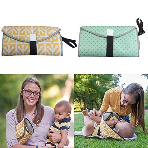 3-en-1 del pañal del embrague cojín plegable impermeable del bebé portátil manos limpias cambiador del pañal conveniente...