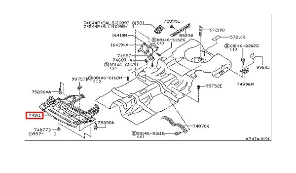 Amazon Com Infiniti Genuine Floor Fitting Under Engine Cover 75890