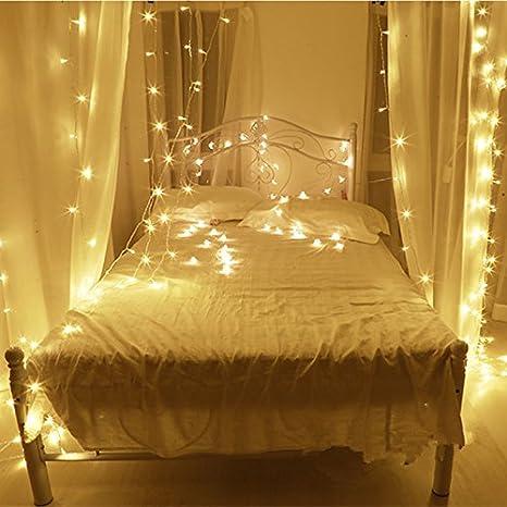 10M LED cordes Guirlande lumineuse 100LED imperméable blanc chaud ...
