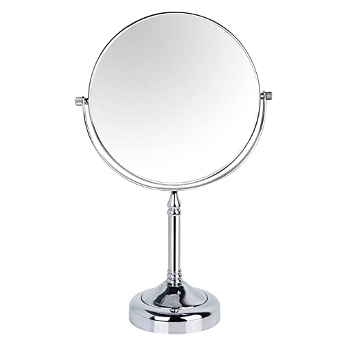 GURUN 8-inch Tabletop Two-sided Swivel Makeup Mirrors with 5x Magnification,Chrome Finish M2251 8in,5x