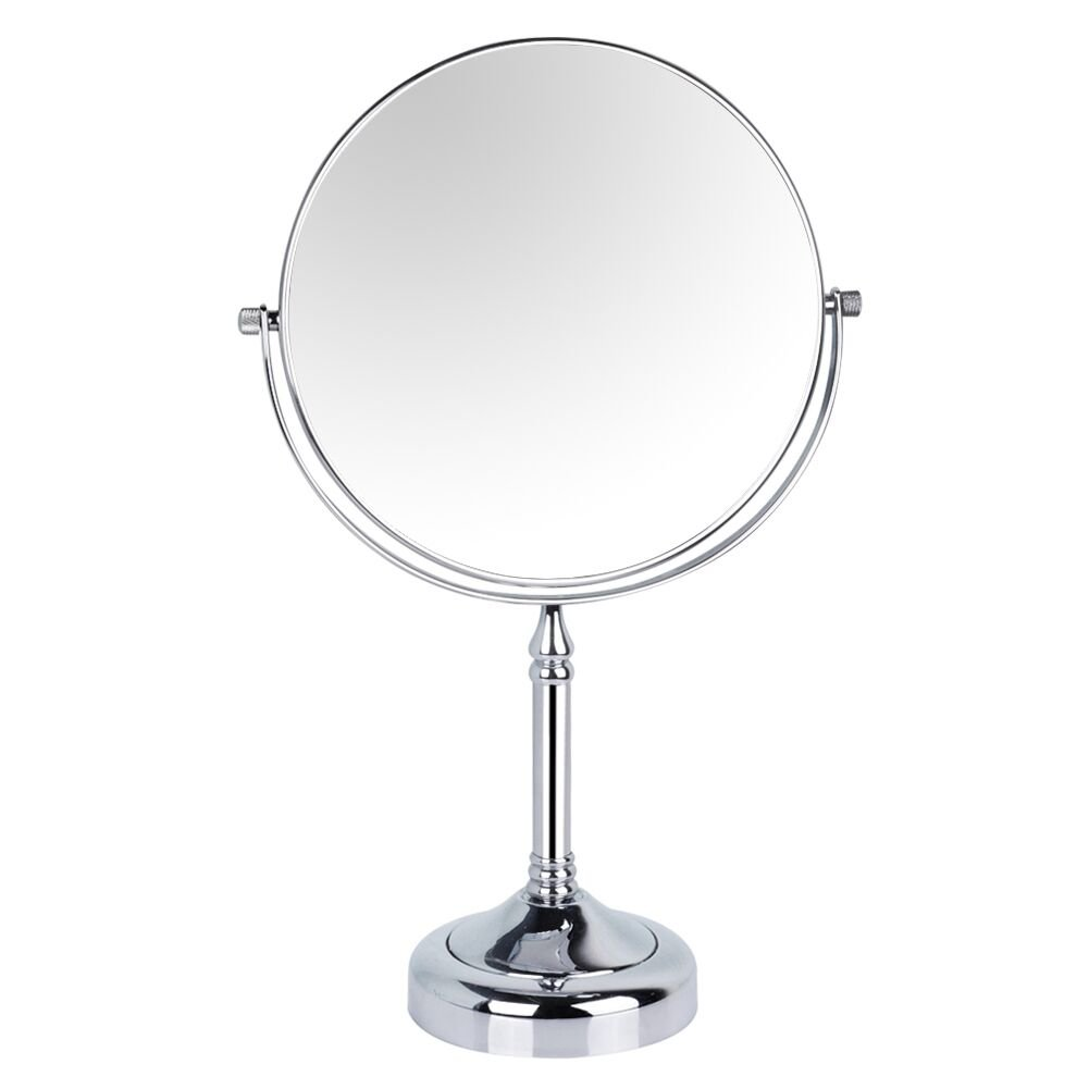 GuRun 8-inch Tabletop Two-sided Swivel Makeup Mirrors with 5x Magnification,Chrome Finish M2251(8in,5x)
