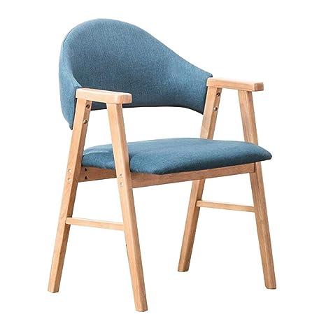Amazon.com: Silla de comedor de madera maciza silla de ...
