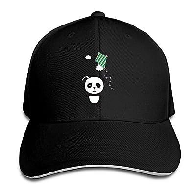 Panda with Colorful Kite Custom Sandwich Peaked Cap Unisex Baseball Hat