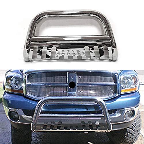 - Luyao Fit 2009-18 Dodge Ram 1500 Front Brush Push Bumper Bull Bar Grill Grille Guard