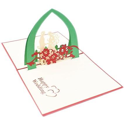 Amazon nret handmade 3d wedding greeting card marriage nret handmade 3d wedding greeting card marriage anniversary card gift cards funny wedding m4hsunfo