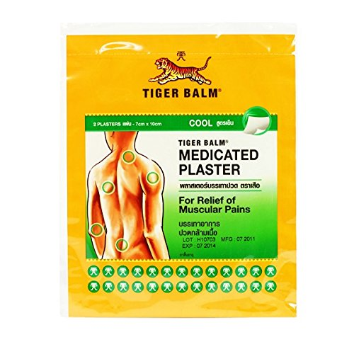 Tiger Balm Medicated Plaster-RD for Relief of Muscular Pains Cool Formular , 2 Plasters 10 X 14 Cm.