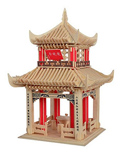 The Chinese Pavilion Three-Dimensional Building Of Manual Assembly Wooden Model