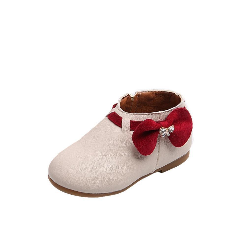 Babyschuhe, Sannysis Kleinkind Baby Mädchen Bowknot Sneaker Stiefel Reißverschluss Casual Schuhe Beige) Amonfineshop_2586