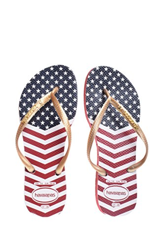 Havaianas Slim Chevron Stars & Stripes Flip Flop - Red