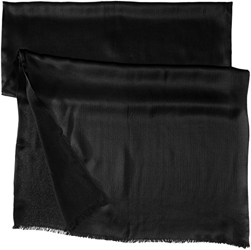 Echo Design Women's Hammered Silk Evening Wrap, Black, One Size