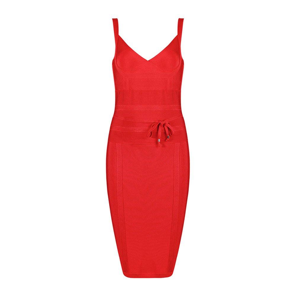 HLBandage Spaghetti Strap V Neck Womens Sashes Strap Lacing Rayon Bandage Dress: Amazon.es: Ropa y accesorios