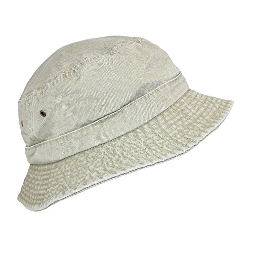 Dorfman Pacific Cotton Packable Summer Travel Bucket Hat, 3X, ()