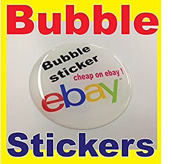 PERSONALISED BUBBLE STICKERS D SILICON DECAL CUSTOM BADGE PRINT - Personalised vinyl stickers