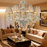 Cheap LightInTheBox 8-light Chandelier Electroplated Finish Pendant Uplight luxury palace Style, European Style, French Style For Living Room, Hotel, Lobby, Ball Room, Hallway.