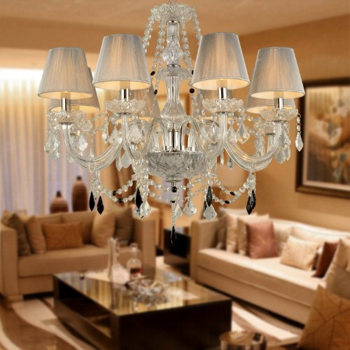 LightInTheBox 8-light Chandelier Electroplated Finish Pendant Uplight luxury palace Style, European Style, French Style For Living Room, Hotel, Lobby, Ball Room, Hallway.