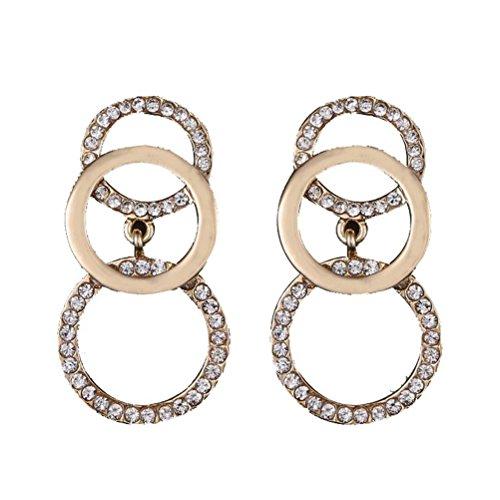simple-circle-combed-flash-diamond-earrings-alloy-long-pendant-earrings