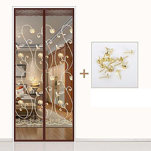 Kjtgfc - Puerta magnética de verano, puerta magnética, ventilación antimoscas para el hogar, cortina de recámara, cifrado...