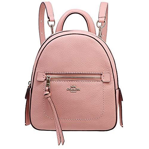 Coach F30530 Andi Backpack Crossbody Handbag in Pebble Leather Petal