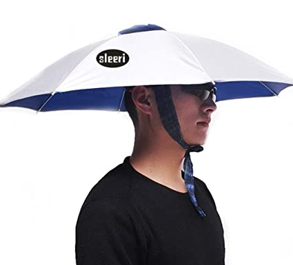 c123a9416a8d6 Amazon.com   Outdoor Multifunction Foldable Sun Rain Umbrella Hat Cap for  Fishing Camping   Sports   Outdoors