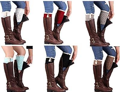 Laimeng, Women Stretch Lace Cuffs Leg Boot Socks